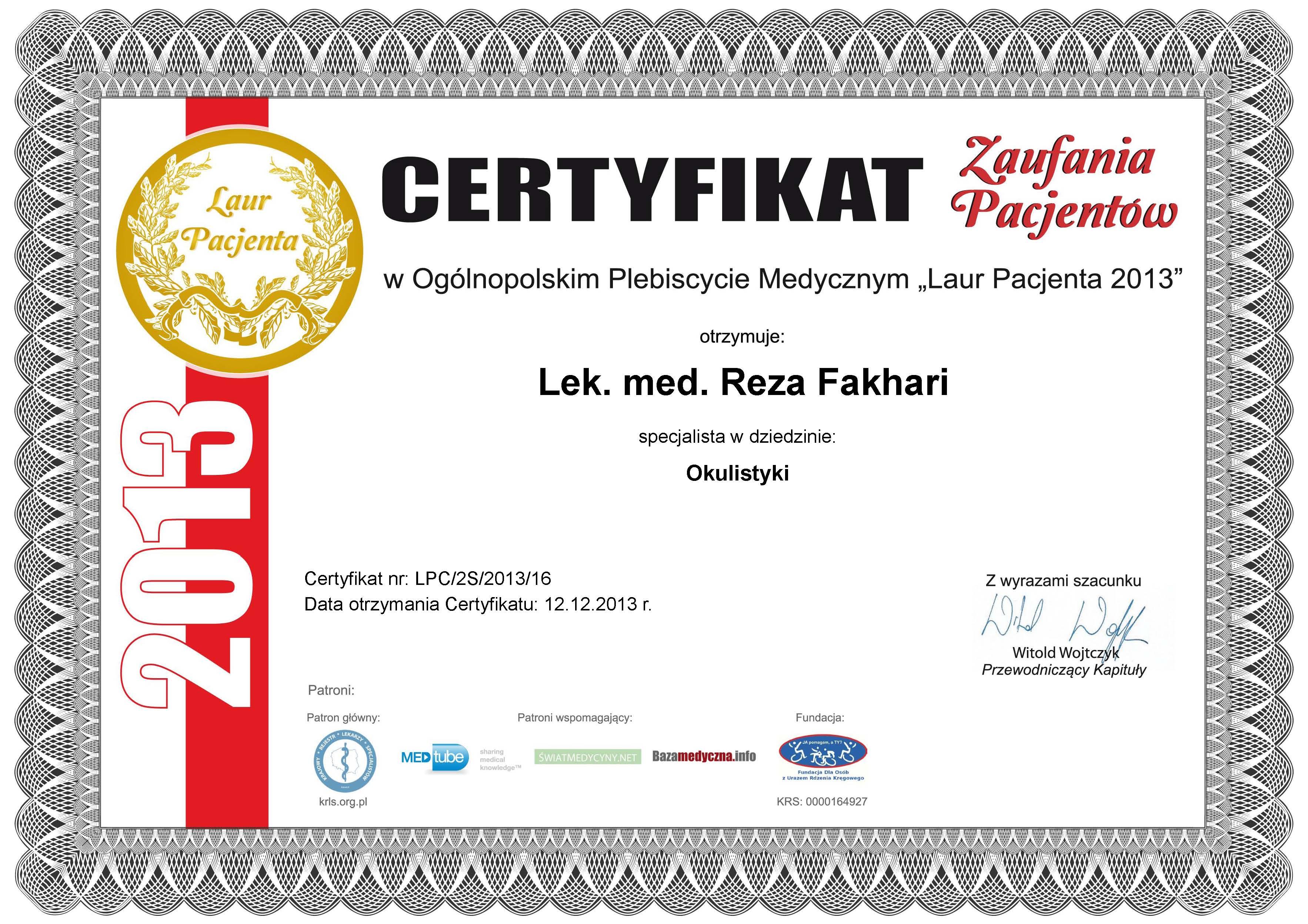 Reza Fakhari Laur Pacjenta